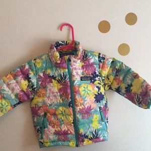 Other - Patagonia floral down jacket size 6-12M